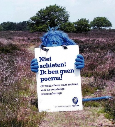 Postbank poema advertentie